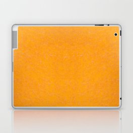 Yellow orange material texture abstract Laptop & iPad Skin
