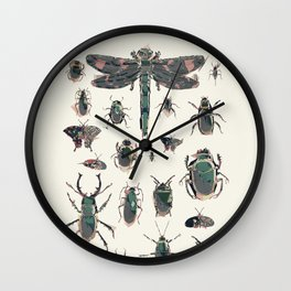 Collection of Insects Wall Clock
