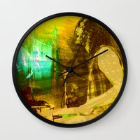 drums Wall Clocks featuring playing opium drums by ARTito