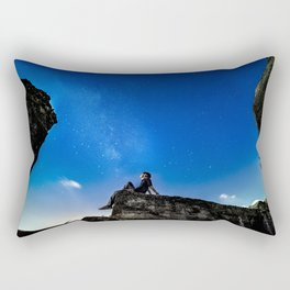 Dreaming under starry sky Rectangular Pillow
