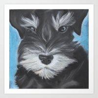 schnauzer Art Prints featuring Schnauzer by Christina Zoernig