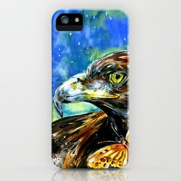 Golden Eagle And Butterfly by Kathy Morton Stanion iPhone Case