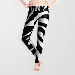 Black and white Zebra Stripes Design Leggings