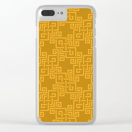 Across the Eastern Sky - Golden Dusk - Asian Knotwork Inspired Pattern Clear iPhone Case