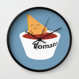 Chillin' Grilled Chesse Wall Clock