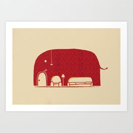 Elephanticus Roomious Art Print