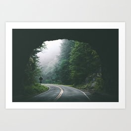 Through The Tunnel Art Print