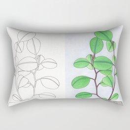 Mirrored leaves Rectangular Pillow