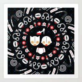 Happy Dom + Gimp Art Print