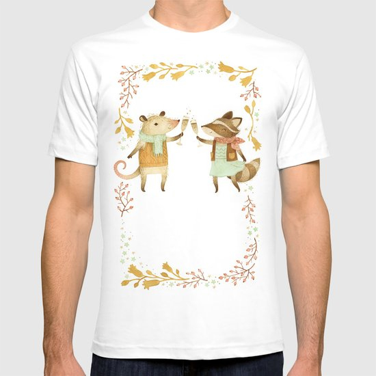 Cheers! From Pinknose the Opossum & Riley the Raccoon T-shirt