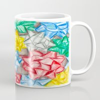 bows Mugs featuring Bows by Lady Tanya bleudragon