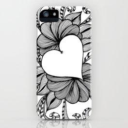 Heart Doodle 1407 iPhone Case