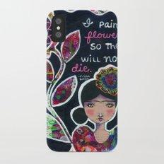 I Paint Flowers iPhone X Slim Case