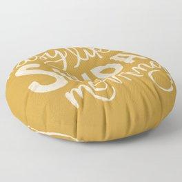 Easy Like Sunday Morning Floor Pillow
