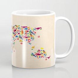 map dinosaur Coffee Mug