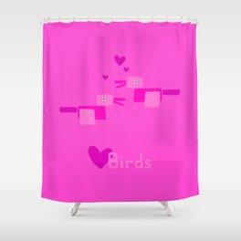 Love Birds-Pink Shower Curtain