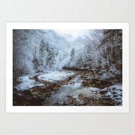 Winter Rivers Art Print