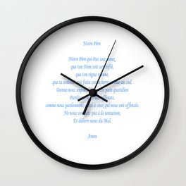 Notre Père Wall Clock