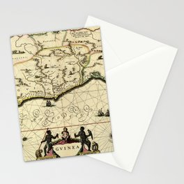 Map Of Guinea 1638 Stationery Cards