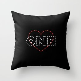 One Love. Throw Pillow