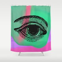 third eye Shower Curtains featuring My Third Eye by Jayde Simpson