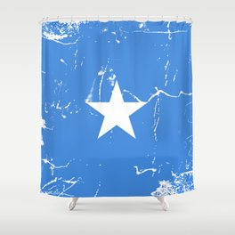 Somalia flag with grunge effect Shower Curtain