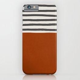 Burnt orange- stripes iPhone Case
