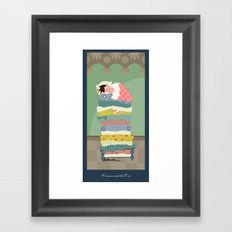 Princess and the Pea Framed Art Print