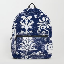 navy and white breeze Backpack
