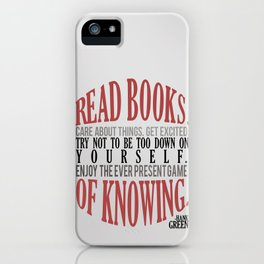 Care About Things iPhone Case