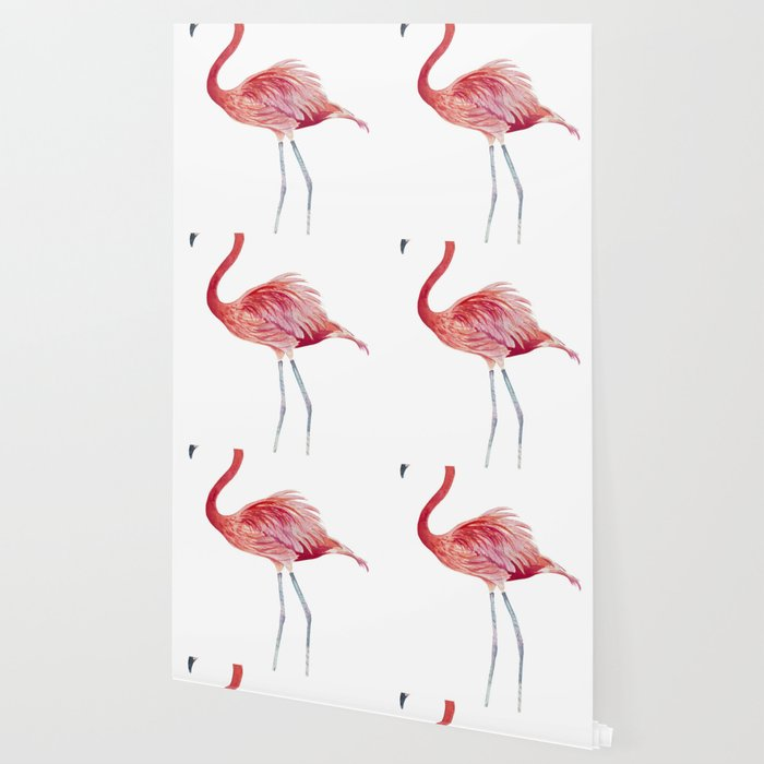 Watercolor Pink Flamingo Wallpaper