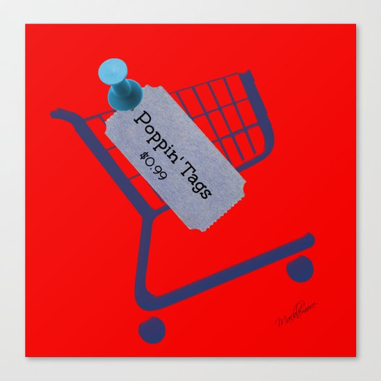 Poppin Tags-Thrift Shop Song-Macklemore Canvas Print