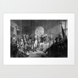 Washington Meeting His Generals Art Print