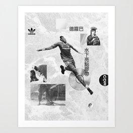 Didier Drogba Underwater Highlight Tape DVD-RW Art Print