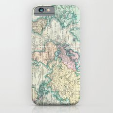 Vintage Map of The World (1801) Slim Case iPhone 6
