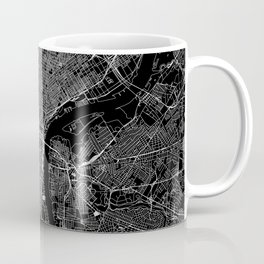 Philadelphia Black Map Coffee Mug
