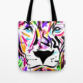 Leo Lion Lines Tote Bag
