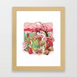 Happy Monsters Framed Art Print
