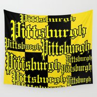 pittsburgh Wall Tapestries featuring Pittsburgh Shout by Wired Circuit
