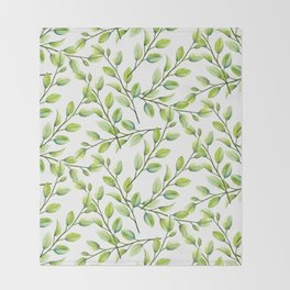 Branches and Leaves Throw Blanket