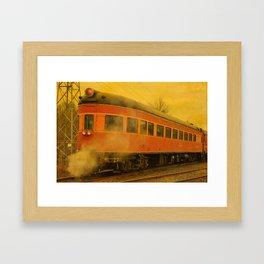 CHRISTMAS STEAM TRAIN Framed Art Print