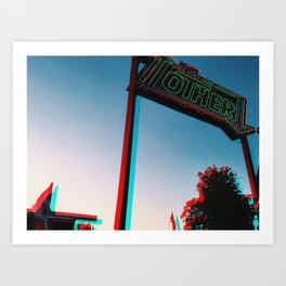 The Other - RG_Glitch Series Art Print