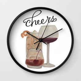 Cheers - Dark Drinks Wall Clock