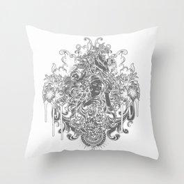 Beautiful Girl with ROSE Throw Pillow