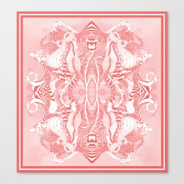 Garden 5 blush Canvas Print