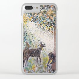 Adorable Deers Clear iPhone Case