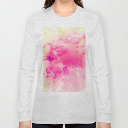 Mixed Pastel Marble Design Long Sleeve T-shirt