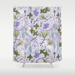 summer herbarium Shower Curtain