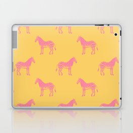 Zebra Pattern in Pink and Yellow Laptop & iPad Skin