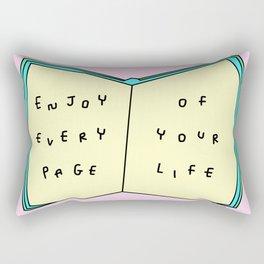 Enjoy Your Life - Book Illustration Rectangular Pillow